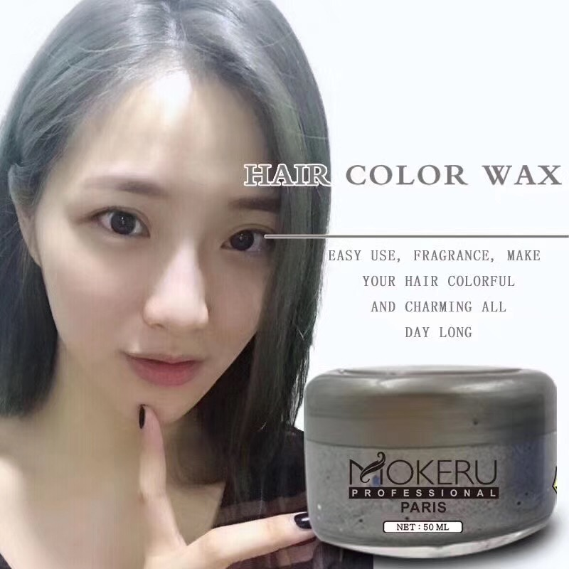 Mokeru Popular Party Fast Styling Temporary Silver Color Hair Wax