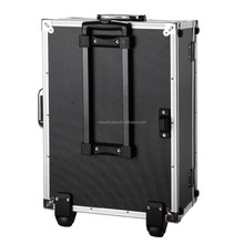 Aluminum plus Plastic ABS carrying case with wheels for flight