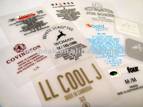 0.005USD/PC eco-friendly polyester care label