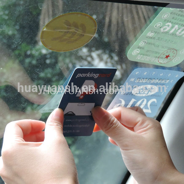 Custom Plastic UHF RFID parking Windshield tag card for parking management