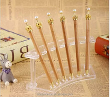Promotional Korea Stationery Imperial pearl Crown Mechanical bamboo ballpoint pen