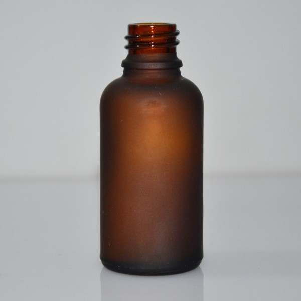 30ml amber frosted cosmetic glass bottle