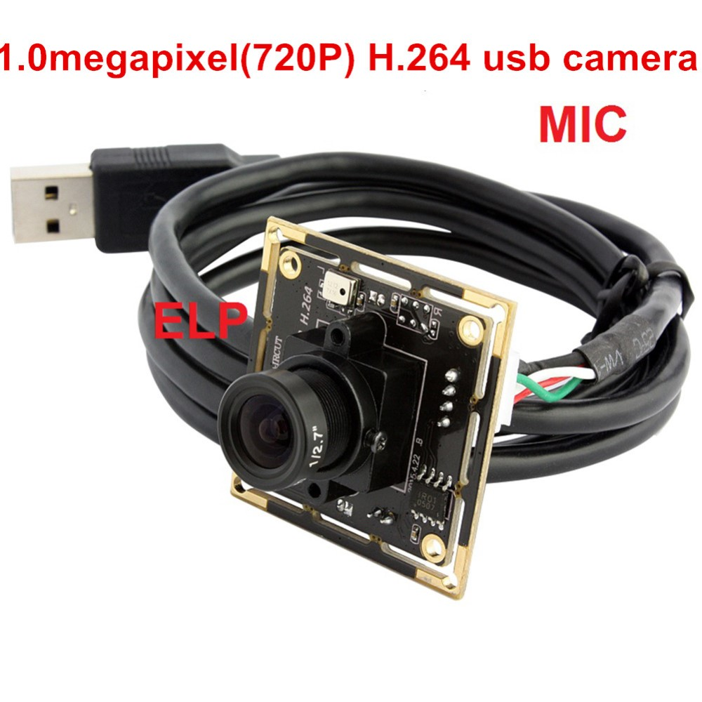 ELP Low cost linux 720P H.264 cmos sensor machine vision surveillance camera