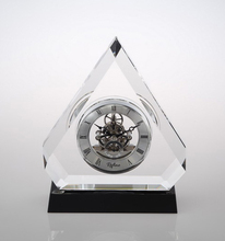 Triumph Crystal Pyramid Table Clock