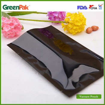 GreenPak Customized Black Color PA/PE Film Food Vacuum Pouch Bag Beef Saver Packaging