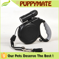 2016 Top Sale LED Light Heavy Duty Retractable Pet Dog Leash With Torch Flashlight