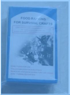 Food ration for survival crafts emergency food rations with ISO and MSC
