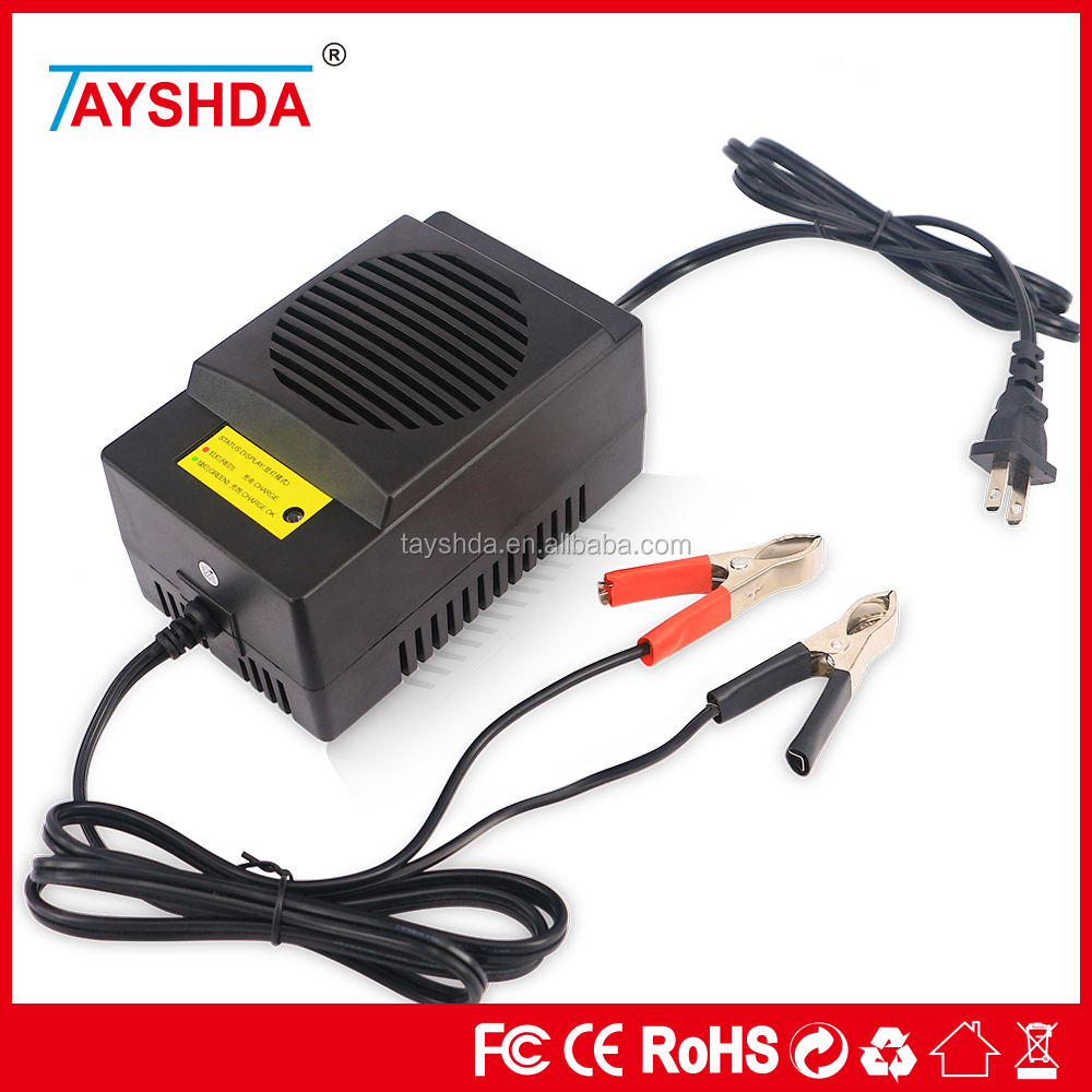 CE approved car battery charger,12V/DC/8A