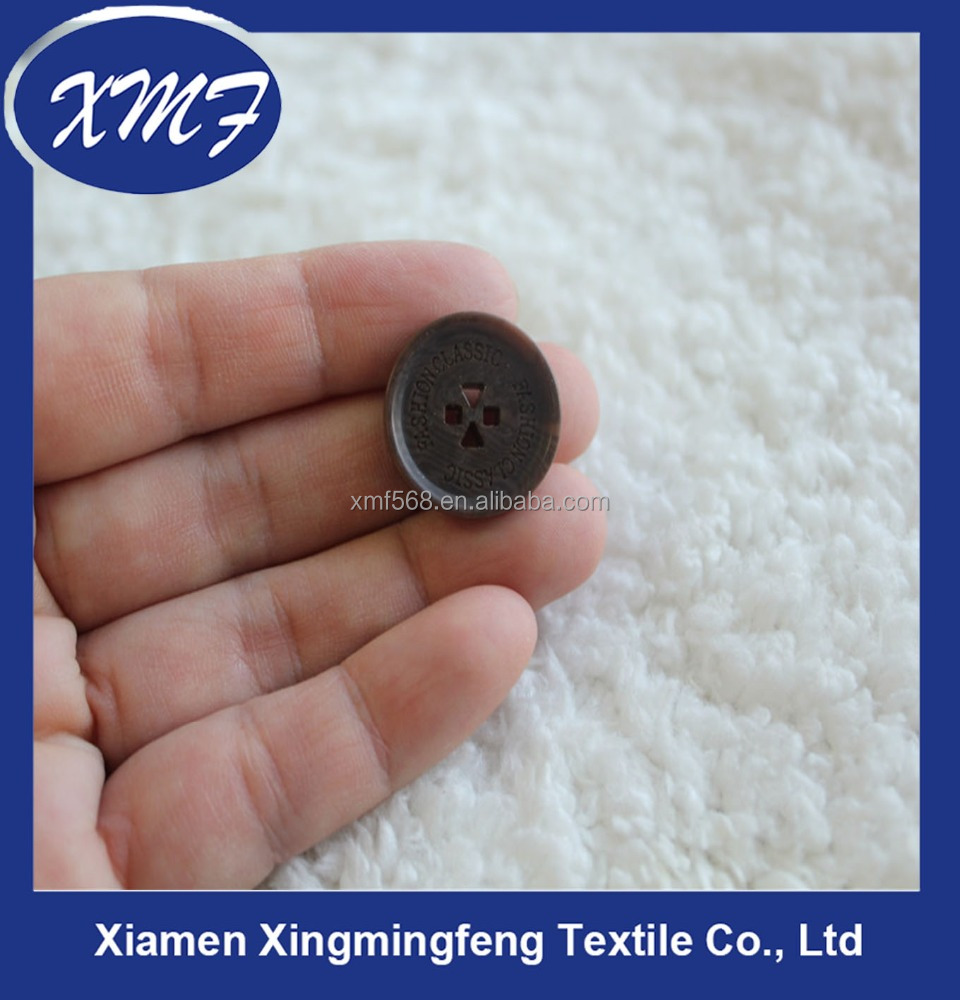 High end resin button with special hole design