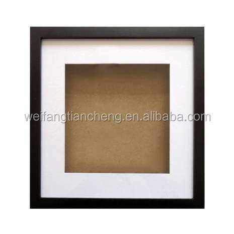 "Front opening shadowbox / solid pine wood shadowbox 8"" x 8"" by studio decor"