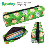 Multifunctional Bag Rick and Morty Cosplay Canvas Pen Case Anime Zipper Pencil Bag