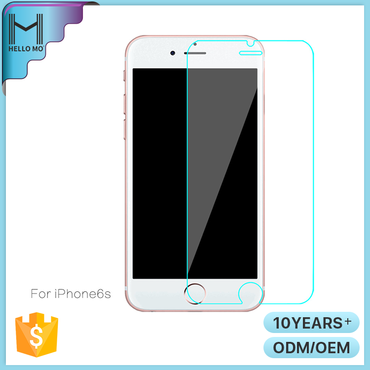 Wholesale promotional HD clear anti-fingerprint tempered glass screen protector for iphone6