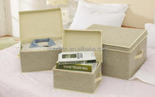 Fabric Stackable Storage Cube Storage Box With Lid