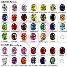 Cubic Zirconia/Corundum/Spinel/Glass Stone/Opal Gemstone Color Chart