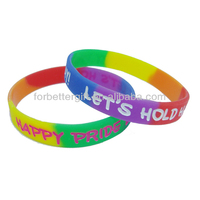 multi-color silicone rainbow bands
