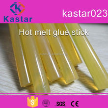 colored crystal clear hot melt glue stick