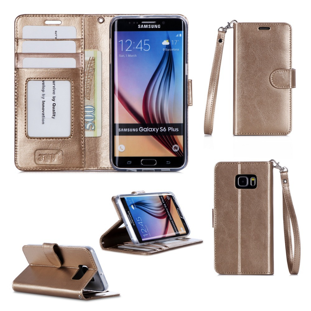 With Card Holder Wallet Flip Cover Popular PU Phone Case For Samsung S6 Edge