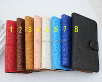 leather leater flip wallet mobile phone case for lg optimus l70 D325