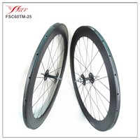 China carbon disc brake wheels tubular 700c 60 25, OEM track bicycle disc braking wheelset with 25mm width