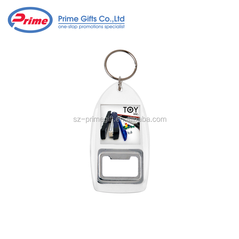 Customized Beer Bottle Opener Cheap Photo Keychain for Sale