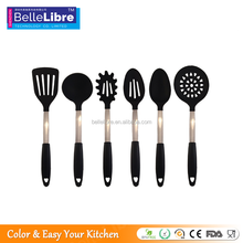 Factory sales Eco-friendly 6 pieces silicone kitchen utensils wholesale