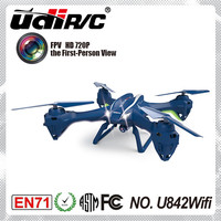 UDIRC U842 WIFI 2.4Ghz 4 channel 6 axis high quality helicopter with hd video camera