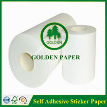 art paper white release paper for printing self adhesive sticker paper in roll or sheet