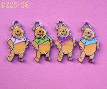 Lovely Metal Simulation Cartoon Teddy Bear Enamel Key Chain Wholesales