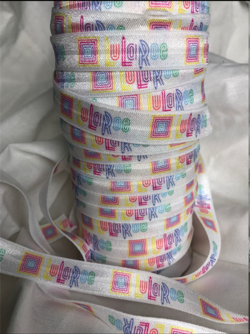 "100yards 5/8"" Lularoe Print Fold Over Elastic Ribbon Good Quality Unicorn FOE Webbing for DIY Headwear <strong>Hair</strong> <strong>Accessories</strong>"