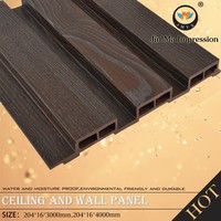 Non - Formaldehyde Film Coated Plastic Composite WPC New Engineered Wood Wall Covering