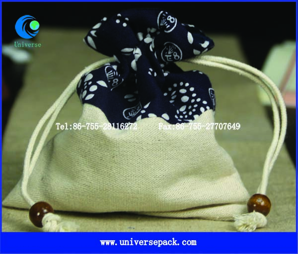 promotional jewelry linen gift pouches