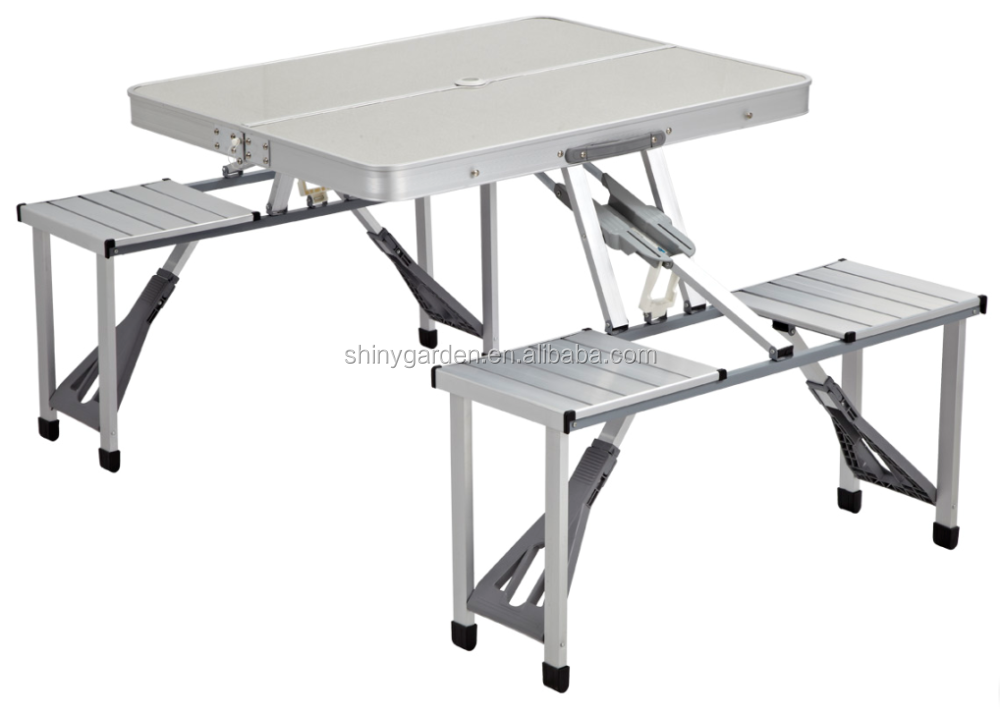 Portable Mdf Aluminum Folding Table And Chair For Outdoor Use Buy Aluminum