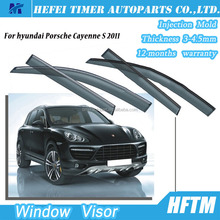 PC plastic Sun Chrome Side Window Visor for hyundai Porsche Cayenne S 2011