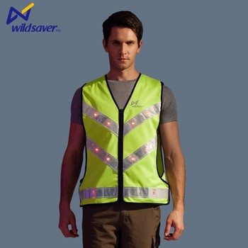 manufacturer wholesale hi viz reflective safety vest with led light