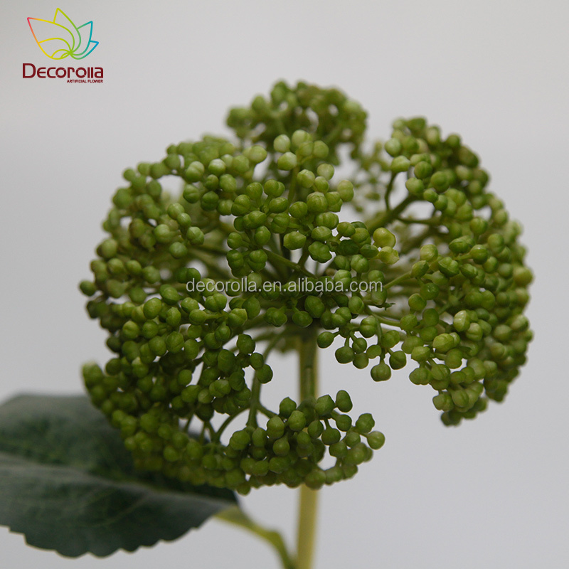 plastic allium flower with leaf,artificial flowers