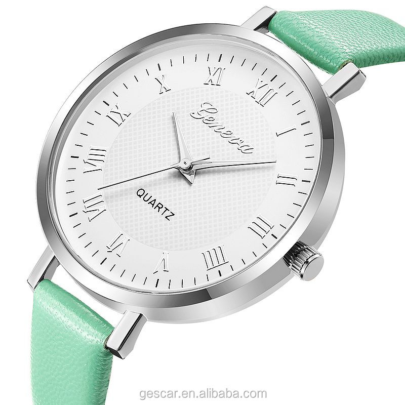 elegance geneva brand lady mini belt wrist watch for women wholesale clock