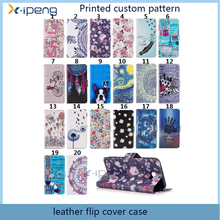 Printed Customized pattern bookstand cover wallet leather case for samsung galaxy j2 prime