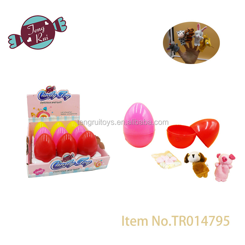 New Item-Finger toys in egg (Chinese Zodiac sets) with candy