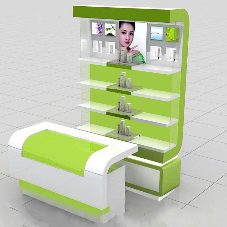 wood pop up counter cosmetic product display stands