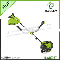 Bike handle type brush cutter with 2 stroke gasoline engine
