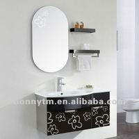 wall cabinets with glass doors flower design for the bathroom cabient BN-548