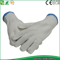 7 gauge nature white bleached white cotton yarn knitted safety hand building glove 800 grams