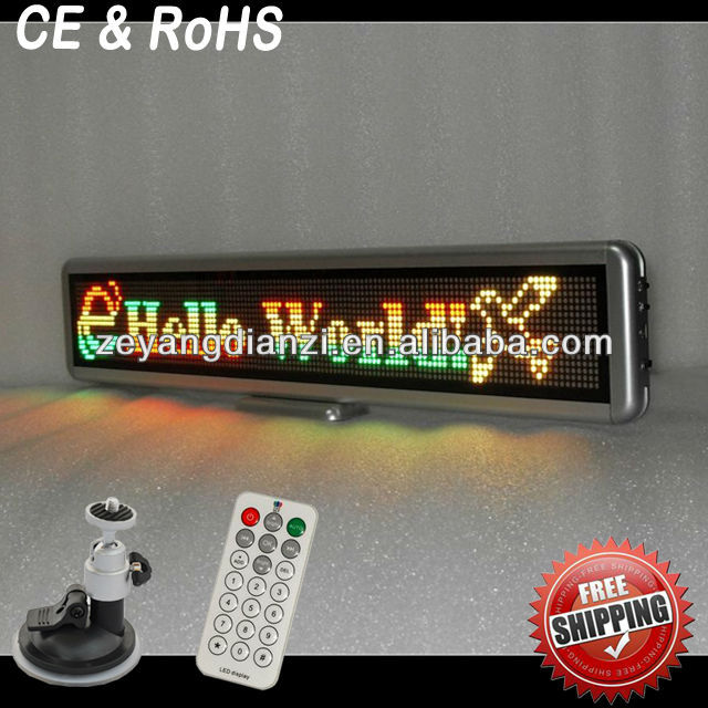 Alibaba Russian 12v led car message moving scrolling sign display