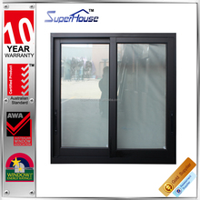 Australia standard Low-U factor australia black aluminum double glazed window/australian low-e glass windows/window manufacturer