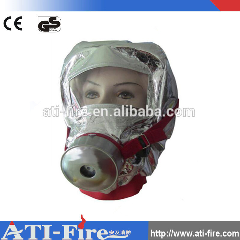 Emergency Escape Hood Oxygen Mask Respirators 60 Minutes Fire Smoke Toxic Filter Gas