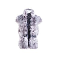 Latest fashion designs factory price luxury faux fur coat