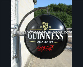 vacuum forming light box signs,rotating pub sign,3D acrylic moulding signage