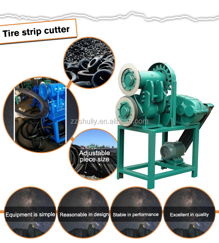 Waste tyre recycling machine for making rubber powder
