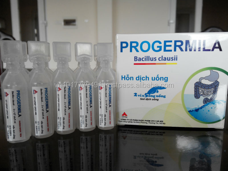 Bacillus Clausii liquid in plastic ampoule, probiotics produced by BFS Technology