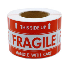 500 Labels 2x3 Warning FRAGILE This Side Up Shipping Mailing Stickers